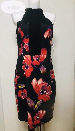 Trina Turk Damen Kleid Schwarz Rot Blumen L