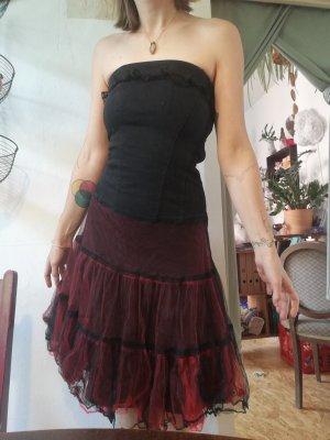 Tripp NYC Off-The-Shoulder Dress black-dark red