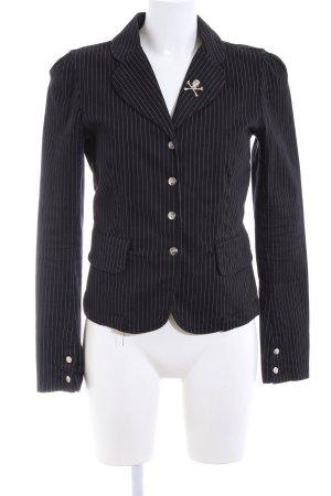 Tripp NYC Long-Blazer schwarz-weiß Streifenmuster Casual-Look