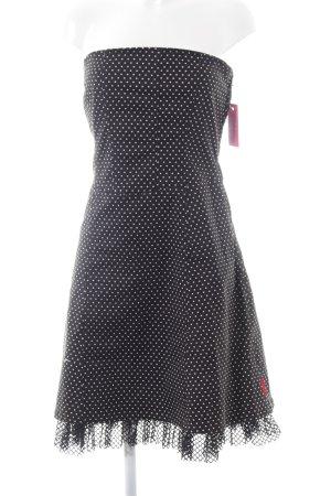 Tripp NYC schulterfreies Kleid schwarz-weiß Party-Look
