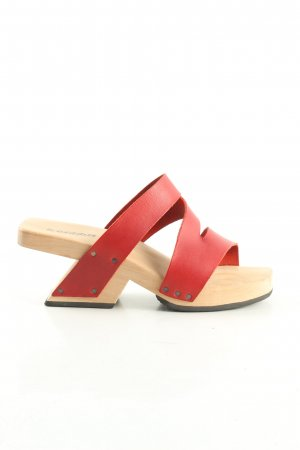 trippen Clog Sandals nude-red casual look