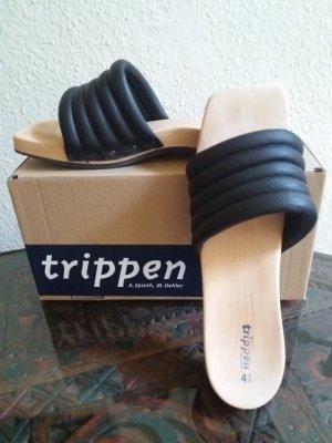 trippen Sandalias tipo clog negro-beige