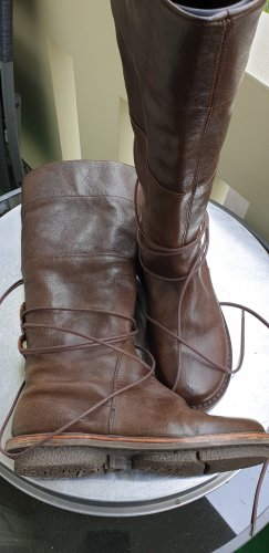 trippen Wide Calf Boots brown leather