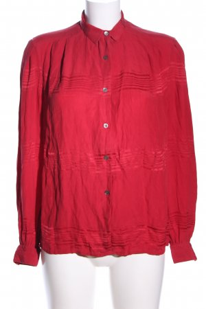 Tristano Onofri Hemd-Bluse rot Streifenmuster Casual-Look