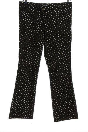 Tristano Onofri Pantalon pattes d'éléphant noir-blanc motif de tache