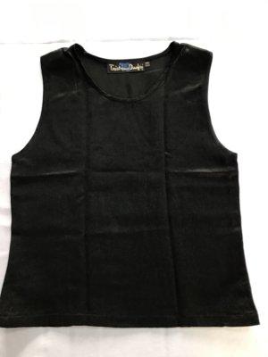Tristano Onofri Top Shirt schwarz glänzend Größe 38