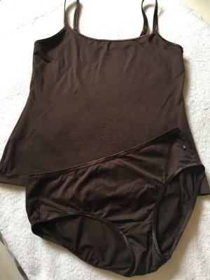Triumph Conjunto de lencería marrón oscuro