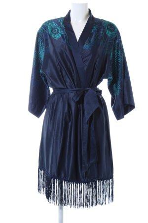Triumph Kimono blu-turchese motivo astratto stile stravagante