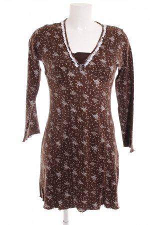 Triumph Long Shirt brown-natural white allover print casual look