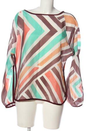 Trixi Schober Blusa de seda estampado repetido sobre toda la superficie