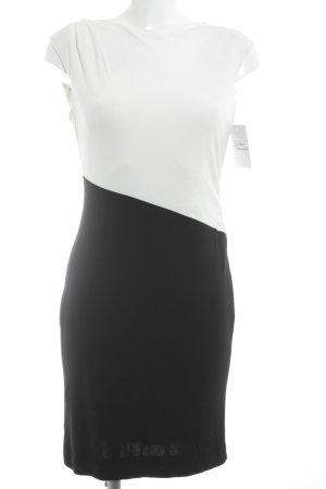 Trixi Schober Stretchkleid schwarz-wollweiß Farbverlauf Casual-Look