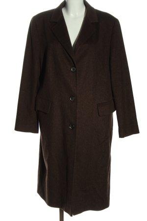 Trixi Schober Wełniany płaszcz brązowy W stylu casual