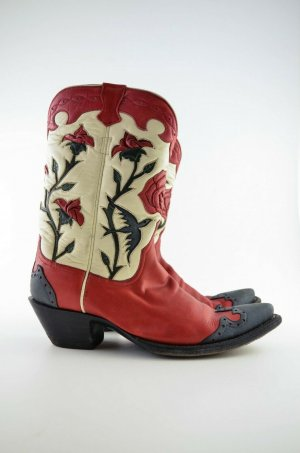 Boots western multicolore cuir