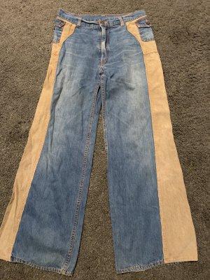 Wortel jeans leigrijs-beige