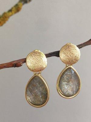Tropfenförmige Ohrringe goldfarben