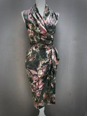 All Saints Spitalfields Robe portefeuille multicolore soie