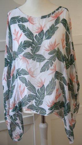 Tropical Bluse mit Seidenanteil