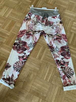 Tropical Print Hose/Pant - Italy - Brown/White - OneSize - Flower