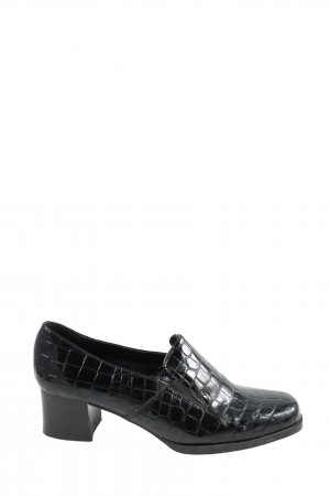 Loafers black allover print business style