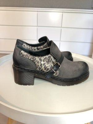 Trotteur Stiefeletten GKM Mayer Shoes Leder grau hochwertig Leopard Loafers Doc Martens 41 Plateau