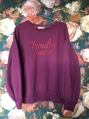 Troublemaker Sweatshirt mit Puffärmeln