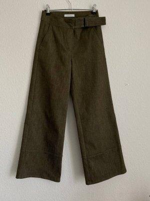 lorena k High Waist Trousers grey brown-green grey
