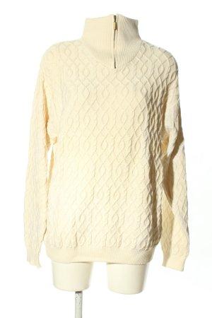 Maglione alla marinara crema punto treccia stile casual