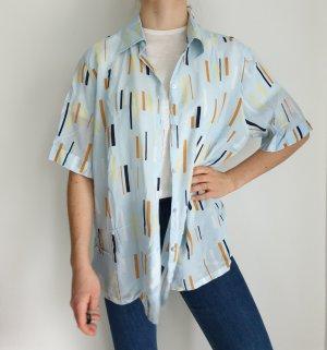 tru blau schwarz 50 Hemd True vintage Bluse oversize pulli pullover top Shirt