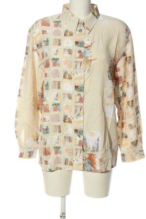tru blouse Hemd-Bluse abstraktes Muster Casual-Look