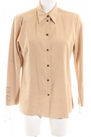 tru Hemd-Bluse nude Allover-Druck Business-Look