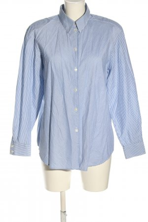 tru Hemd-Bluse blau-weiß Streifenmuster Casual-Look