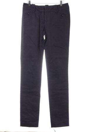 Tru Trussardi High-Waist Hose dunkelblau klassischer Stil