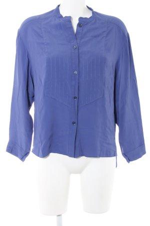 Tru Trussardi Langarm-Bluse blau Streifenmuster Business-Look