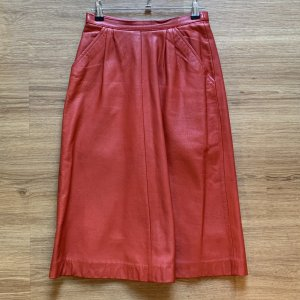 Leather Skirt red leather
