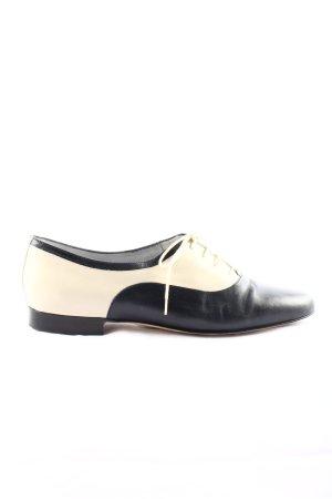 Truans Chaussure Oxford noir-blanc cassé style d'affaires