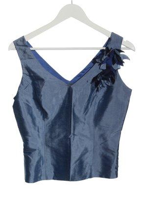Trucco Haut en soie bleu style décontracté