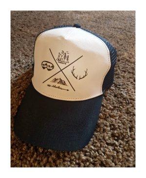 Sombrero de ala ancha blanco-azul oscuro