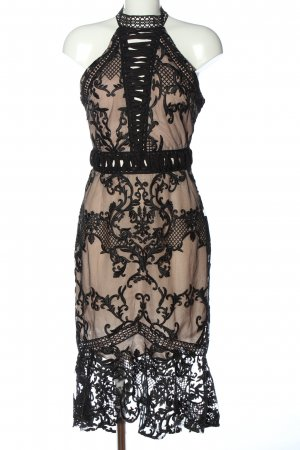 True Decadence Abendkleid schwarz-nude Party-Look