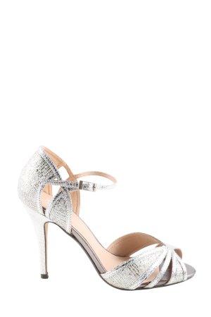 True Decadence High Heel Sandaletten silberfarben Elegant