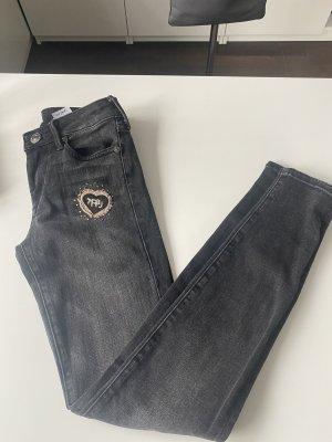 True Religion Jeansy o obcisłym kroju szary