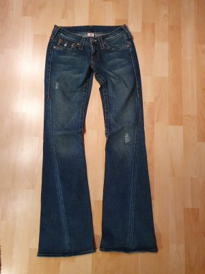 True Religion Jeans a zampa d'elefante blu-blu scuro