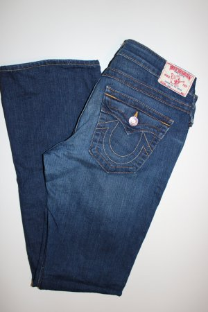 True Religion Jeans flare bleu-bleu foncé