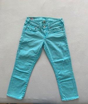 True Religion Jeans 7/8 turquoise-bleu clair jean