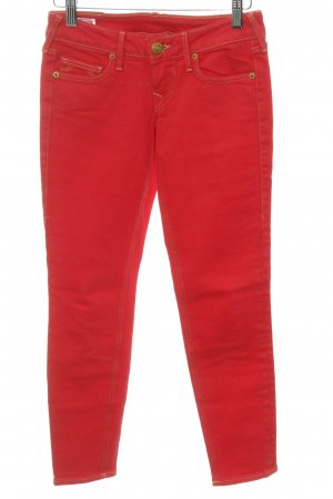 True Religion Jeansy 7/8 czerwony W stylu casual