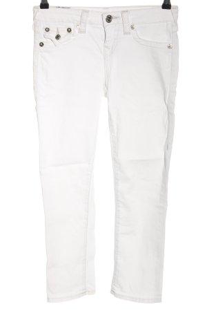 True Religion Jeansy 7/8 biały W stylu casual