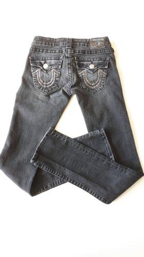 True Religion pantalón de cintura baja gris antracita