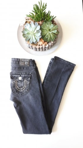 True Religion Spodnie biodrówki antracyt