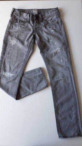 True Religion Pantalone a vita bassa antracite