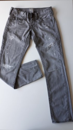 True Religion Low-Rise Trousers anthracite
