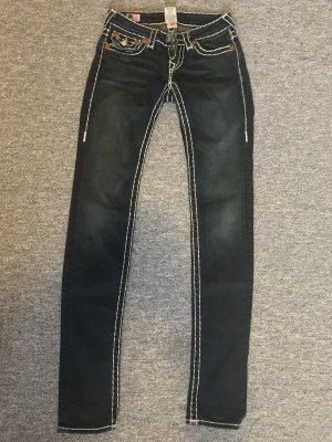True Religion Tube Jeans white-dark blue